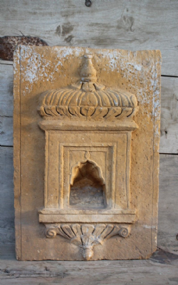 Golden Sandstone Shrine Niche, Jaisalmer circa 1890